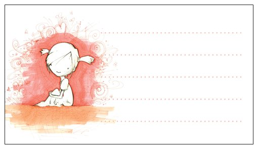 Thoughtful Girl - Pk of 20 Message Cards