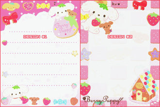 San-X : Berry Puppy mini memo pad #1