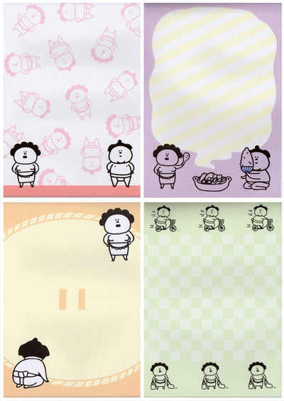 Mr & Mrs Sumo memo pad!
