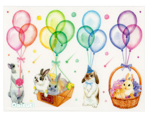 Adorable Bunnies and Flowers Sticker Sheet