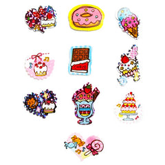 Sticker flakes - #014 - set of 10 Sweets Concert