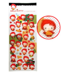 Sanrio : Hello Kitty Red Riding Hood thick plastic stickers!