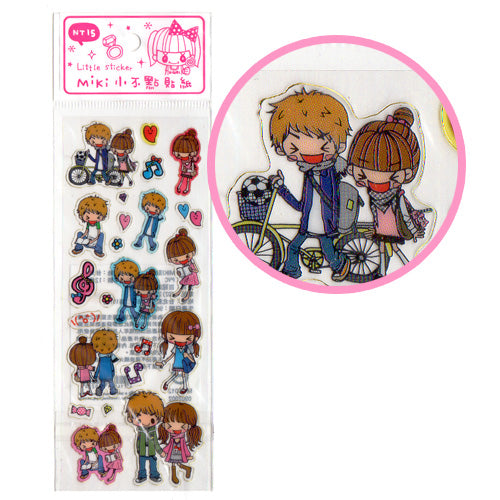 Miki in Love - cute Sheet of Stickers!