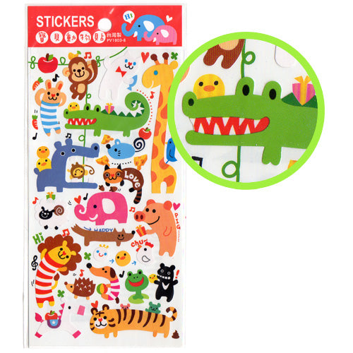 Funny Stretchy Animals stickers sheet!