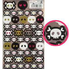 Kamio : JG kawaii metallic skulls sticker sheet!
