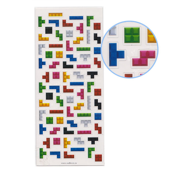 Tetris Blocks Style Sticker Sheet