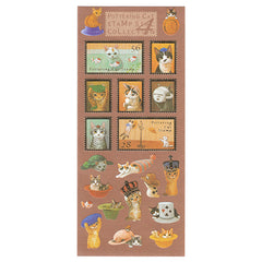Cute Pottering Cat #4 Stamps Sticker Sheet!
