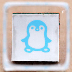 Penguin - kawaii rubber stamp! (Kodomo No Kao)