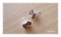 Cute Little Owls - Hand-sculpted Stud Earrings