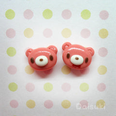 Gloomy Bear - Cute Handmade Stud Earrings