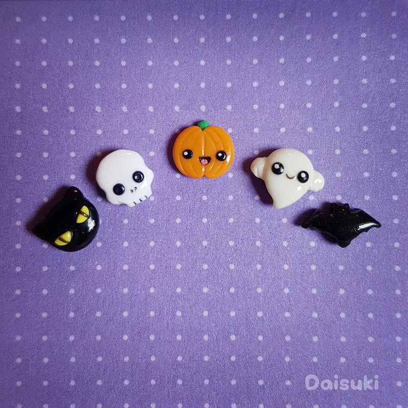 Kawaii Onigiri / Cute Japanese Rice ball Stud Earrings - Hand-sculpted