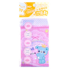 Cheerful Little Bears - Set of 10 Mini Envelopes (pink)