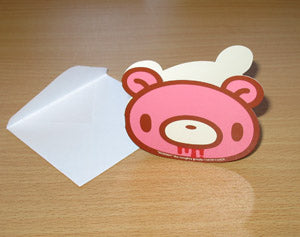 Gloomy Bear mini Die-cut Greeting Card (slightly bloodied)