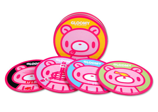 Gloomy Bear Tin of Drink Coasters - Set of 4