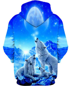 Blue White Wolf - Kiwo Shop