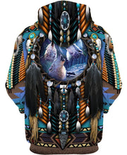 Load image into Gallery viewer, Blue Wolf Dreamcatcher - Kiwo Shop