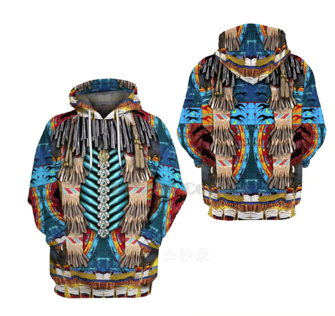 Blue Native Hoodie - Kiwo Shop