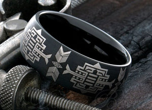 Tungsten Native American Ring - Kiwo Shop