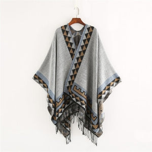 Native American Poncho (10 colors) - Kiwo Shop