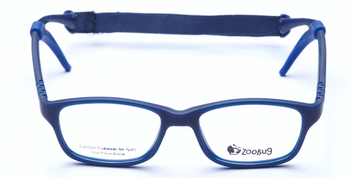 ZB1252 - Navy Zoobug 1 piece rubber with headstrap and earlocks