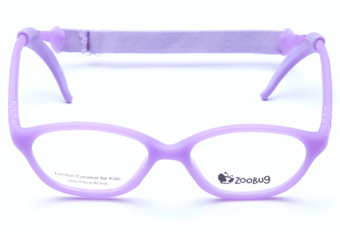 ZB1204 - Violet Zoobug 1 piece rubber with headstrap and earlocks