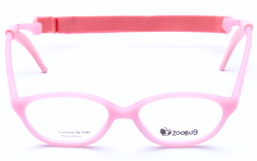 ZB1204 - Pink Zoobug 1 piece rubber with headstrap and earlocks