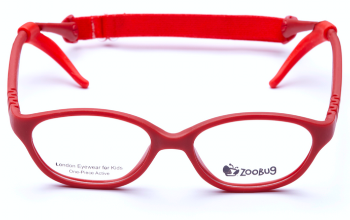 ZB1204 - Red Zoobug 1 piece rubber with headstrap and earlocks