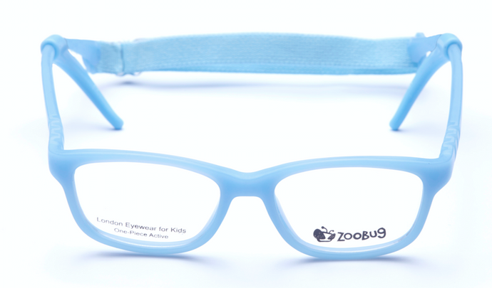 ZB1154 - Light Blue Zoobug 1 piece rubber with headstrap and earlocks