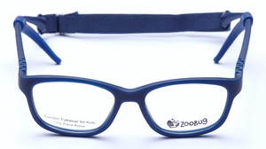 ZB1154 - Navy Zoobug 1 piece rubber with headstrap and earlocks