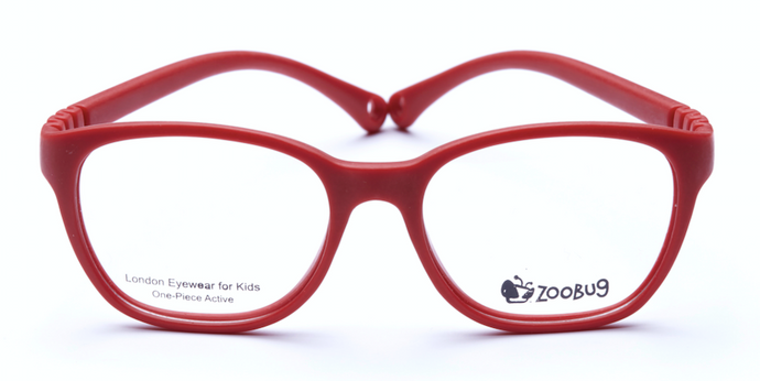 ZB1301 - Red Zoobug 1 piece rubber with headstrap and earlocks