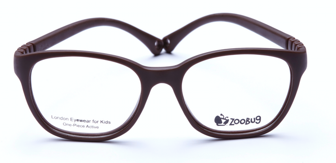 ZB1301 - Brown Zoobug 1 piece rubber with headstrap and earlocks