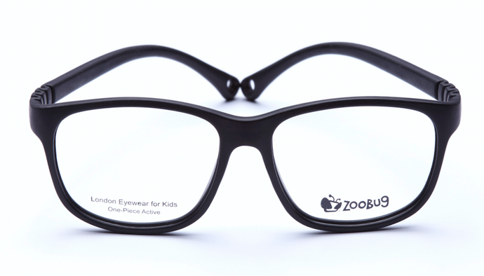 ZB1303 - Black Zoobug 1 piece rubber with headstrap and earlocks