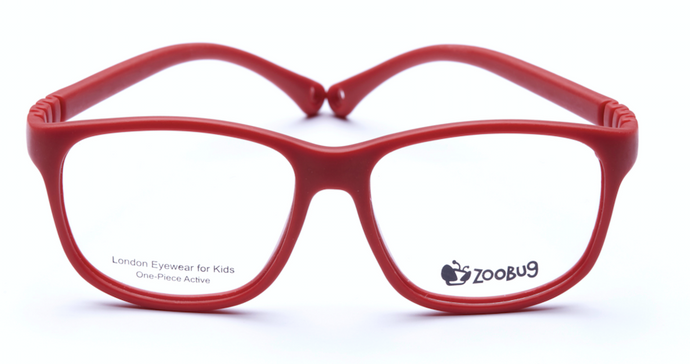 ZB1303 - Red Zoobug 1 piece rubber with headstrap and earlocks
