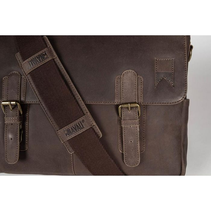 8ba4422c5e97 NAVIGATOR LEATHER MESSENGER - BROWN – The Dudes  Society