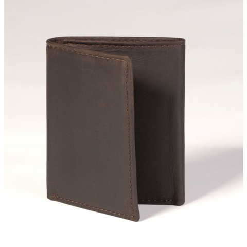 STEWARD TRIFOLD WALLET - BROWN