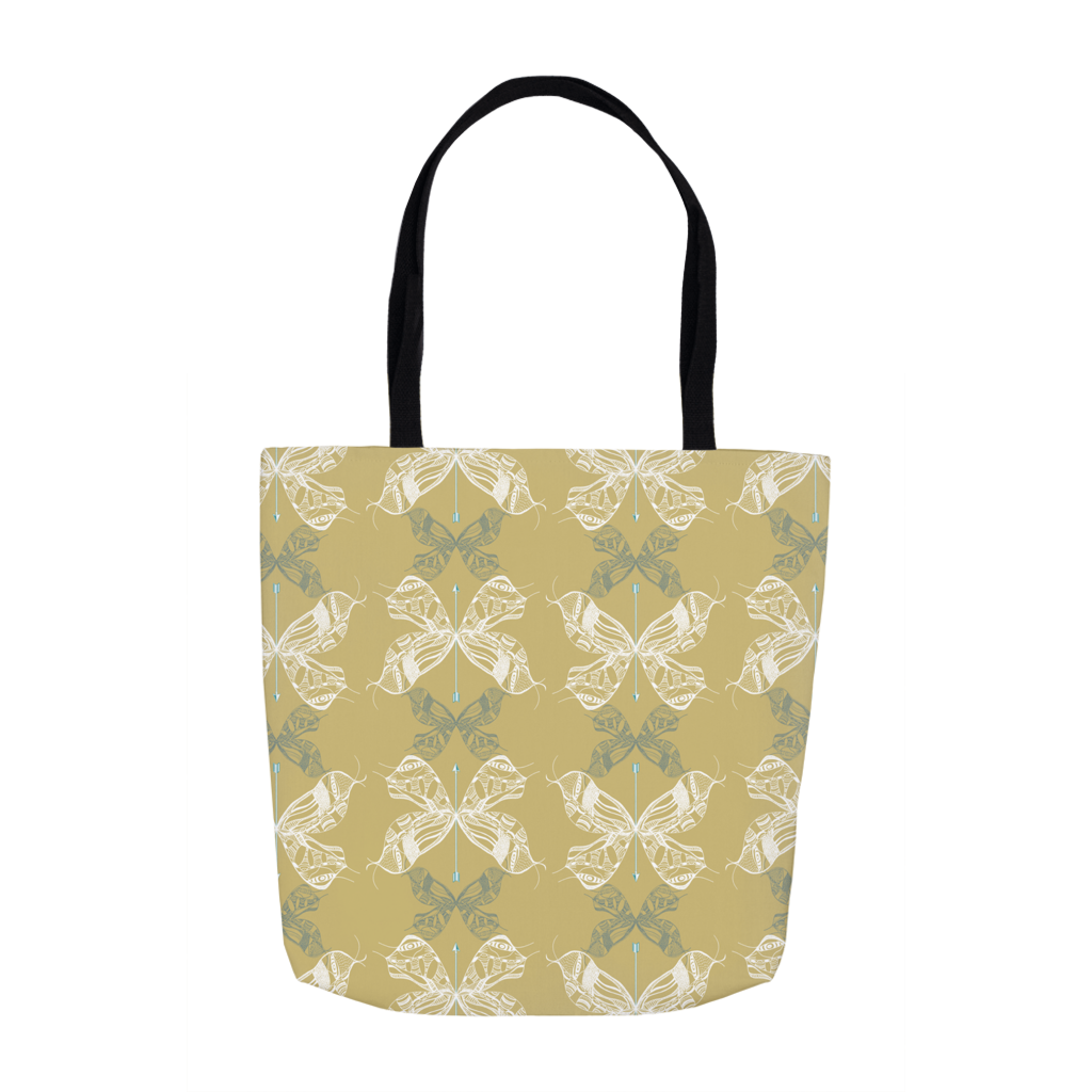 Moth Wing - Old English Tote Bags