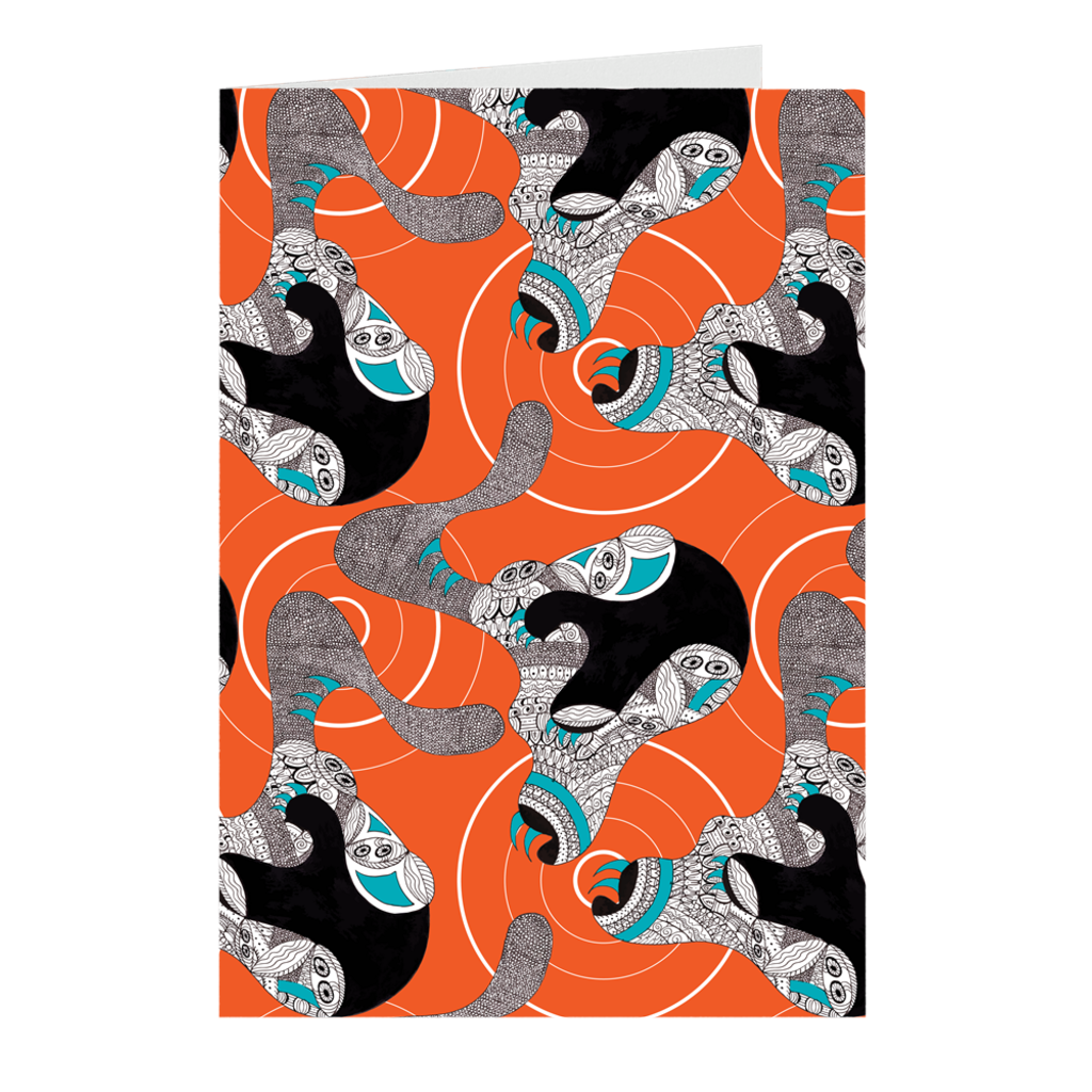 Claws - Orange Crush Folded Cards