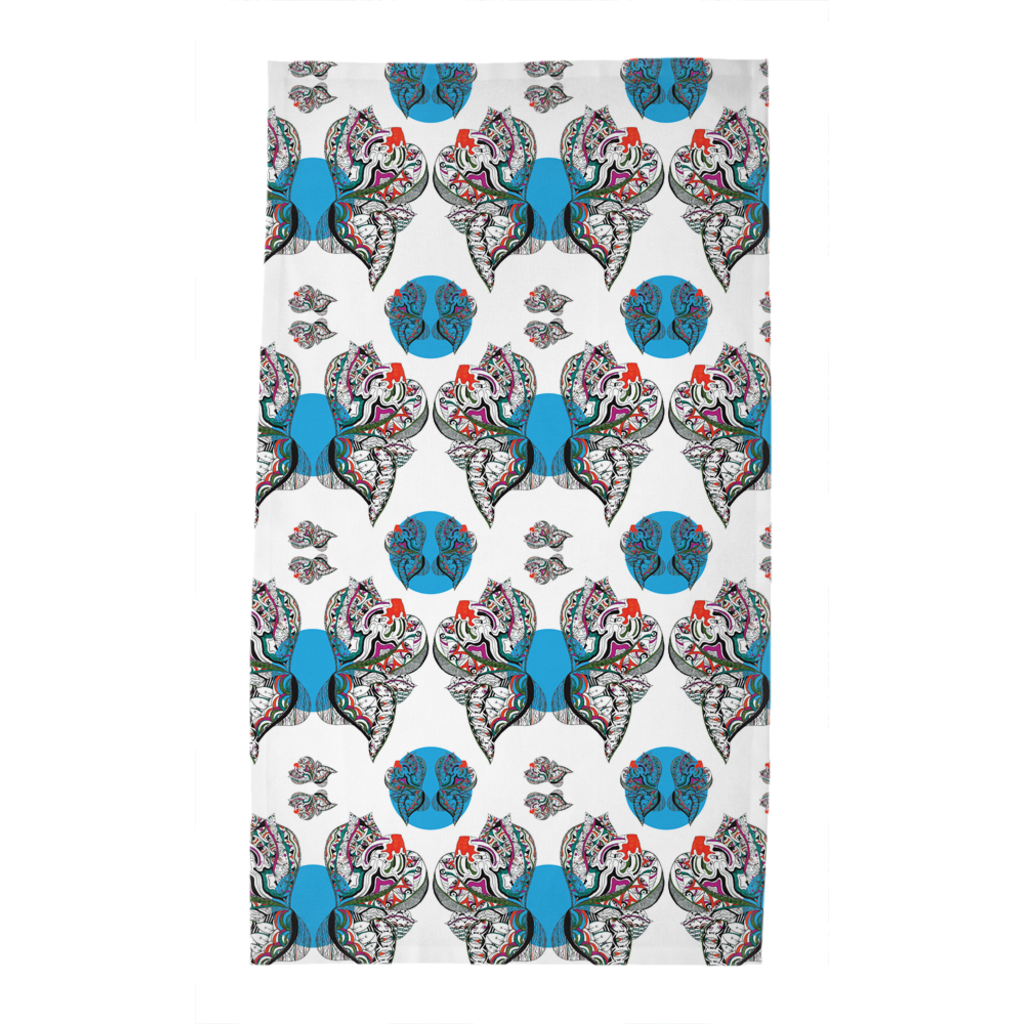 Tea Towels in Butterfly (Blue Drops)