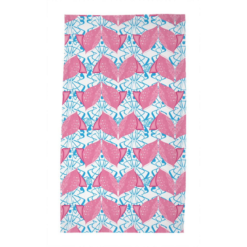 Tea Towels in Fish (Siamese Pink)