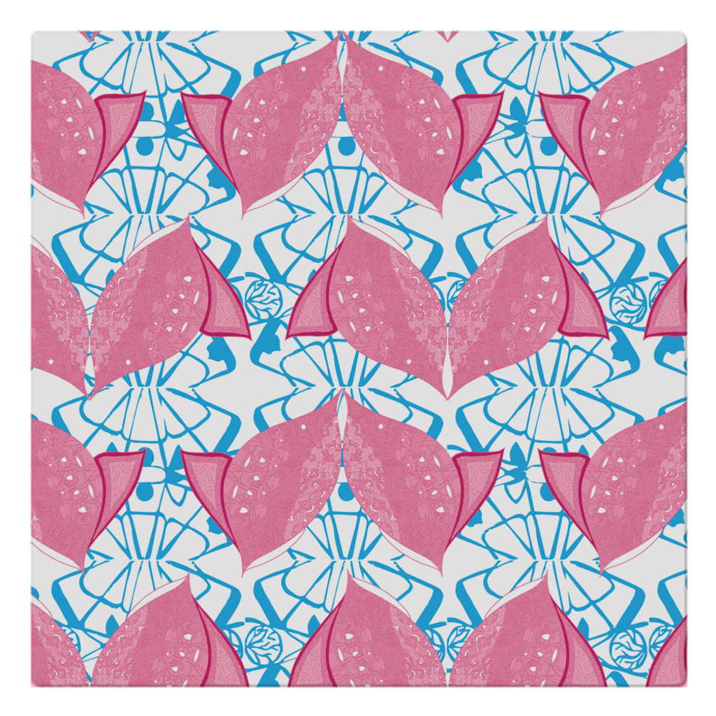 Cloth Napkins in Fish (Siamese Pink)