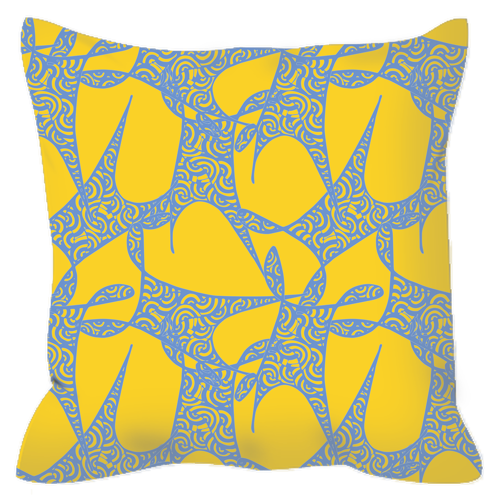 Outdoor Pillow in Hypnosis (Cornflower Sun)