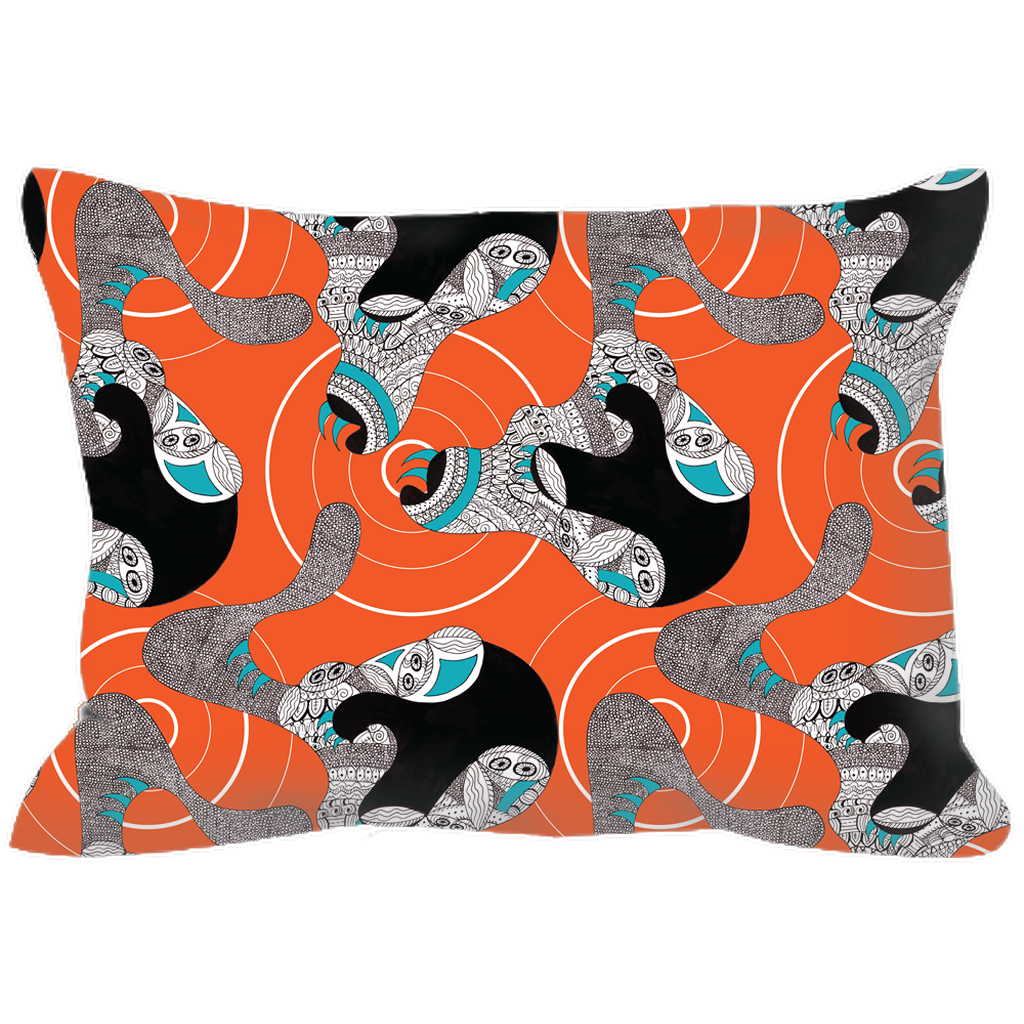 Outdoor Pillow in Claw (Orange Crush)