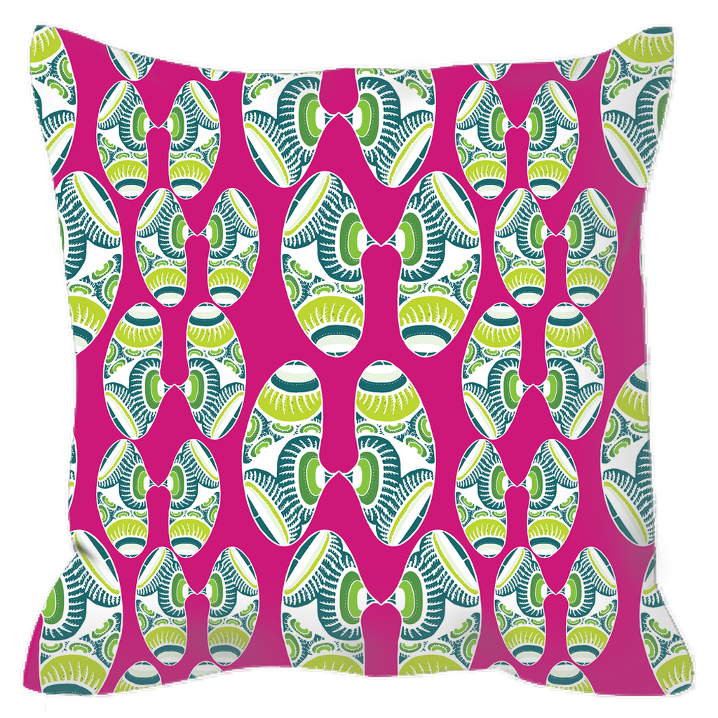Outdoor Pillow in Bean (Girly Girl)