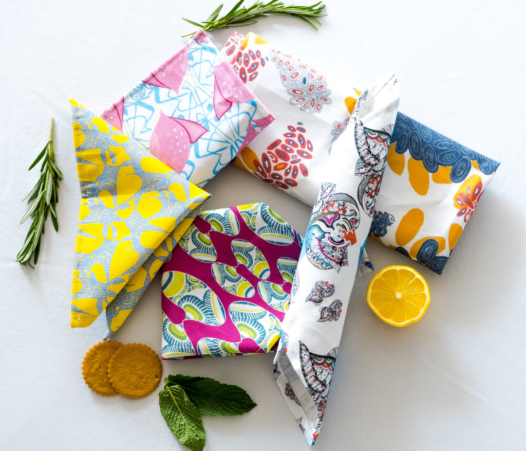 Cloth Napkins in Bean (GirlyGirl)