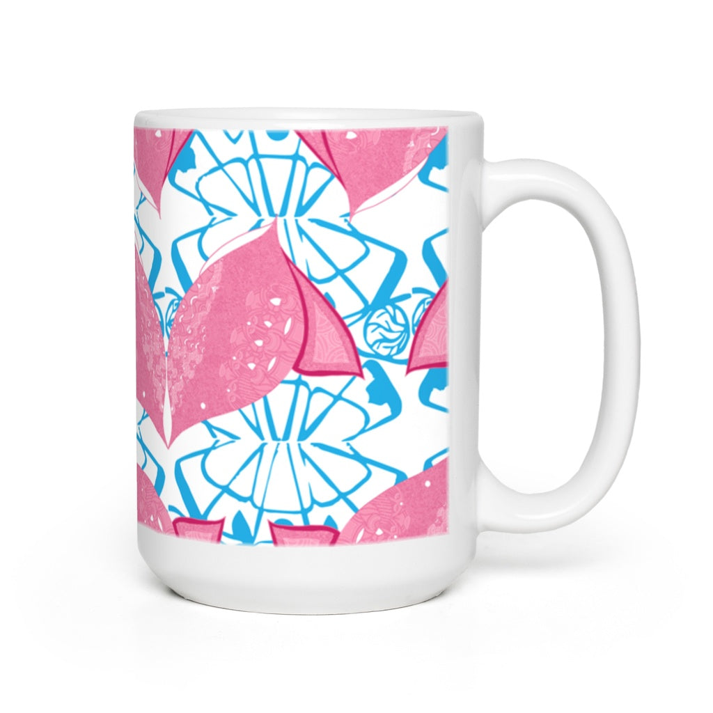 Mugs in Fish (Siamese Pink)