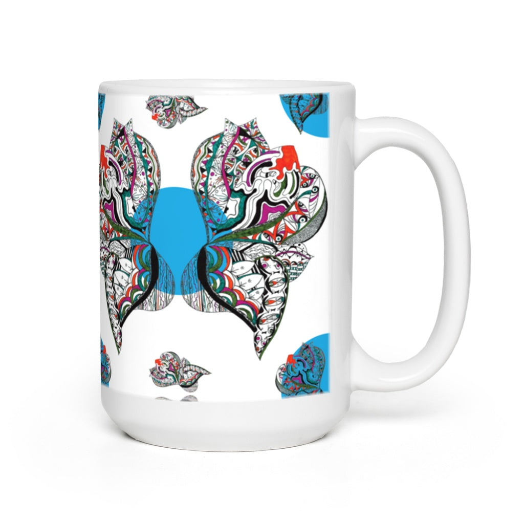 Mugs in Butterfly (Blue Drops)