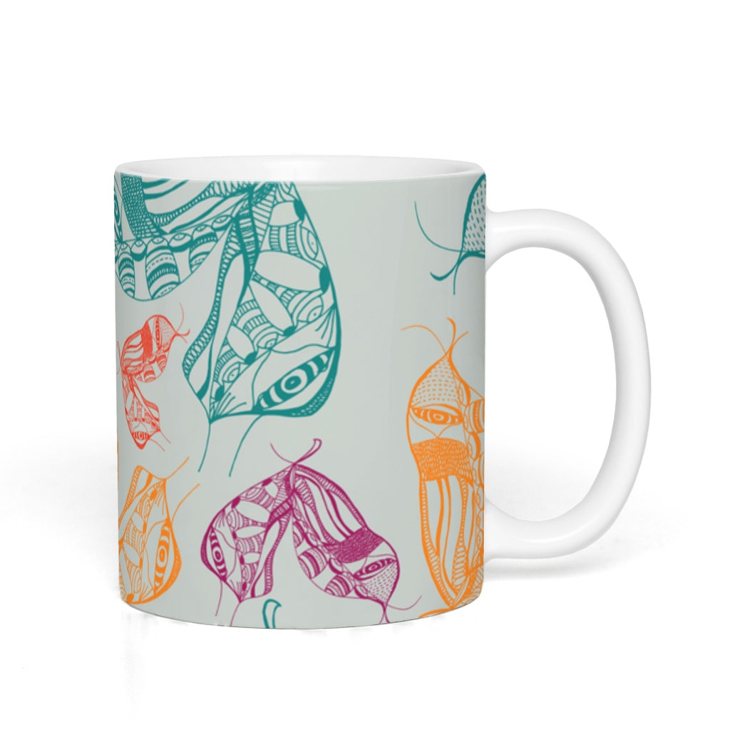Mugs in Moth Wing (Mint Equinox)