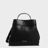 Izzy and Ali Vegan Leather Handbags - Danielle Top Handle in black