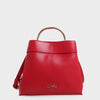 Izzy and Ali Vegan Leather Handbags - Danielle Top Handle in red