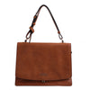 Izzy and Ali Vegan Leather Handbags - Saddleback Messenger Bag